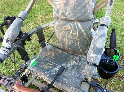 drink accessory holders for summit tree climbers and tree stands